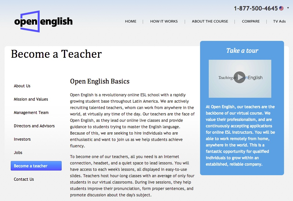 Websites for Teaching English Online